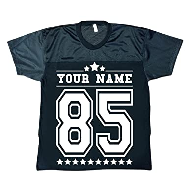 eed58d1d5 Men s Personalised American Football Jersey Shirt Stag Party Custom  T-shirts Black XL