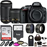 Nikon D5300 DSLR Camera with 18-55 and 70-300 Nikkor Lens + 64GB card and Kit