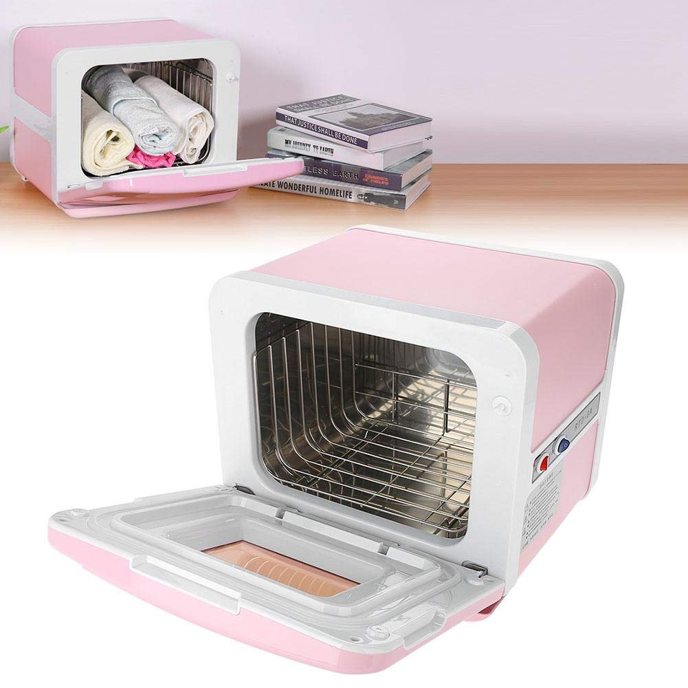 Sterilizer Cabinet, Mini Towel Warming Disinfection Cabinet Heating Sterilization Machine for Spa Massage Tools, Clothing, Towel (Pink) by TMISHION (Image #1)