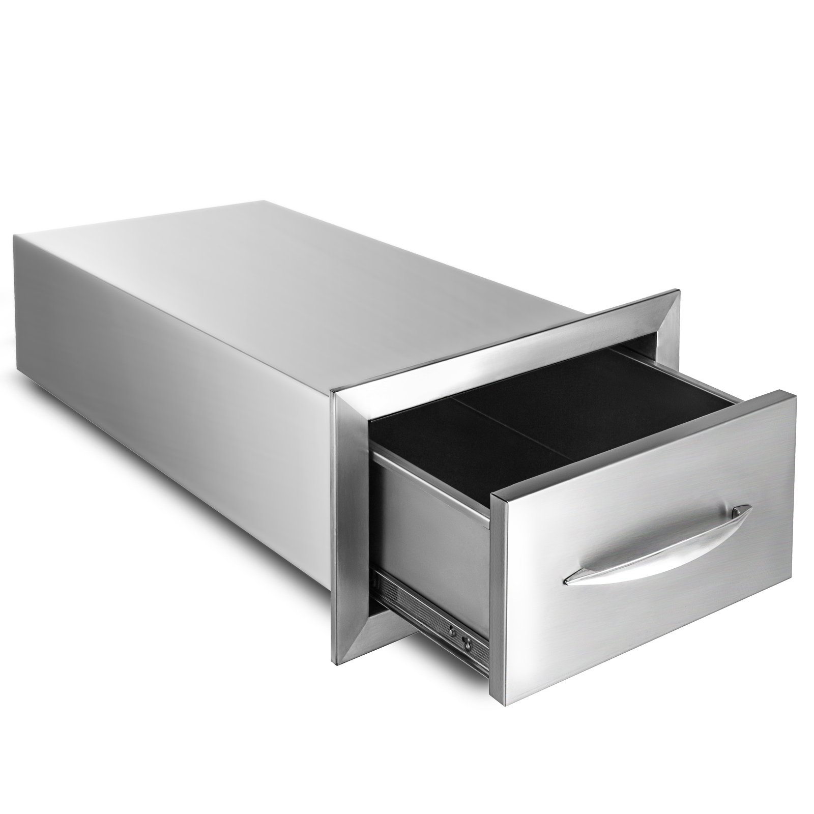 BestEquip 8.5x14 Inch Outdoor Kitchen Drawer Stainless Steel Single Access Drawer with Handle
