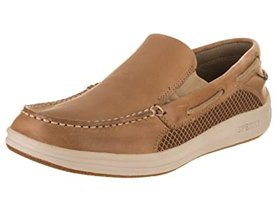Sperry Top-Sider Men's Gamefish Slip on Boat Shoe, Linen, ...