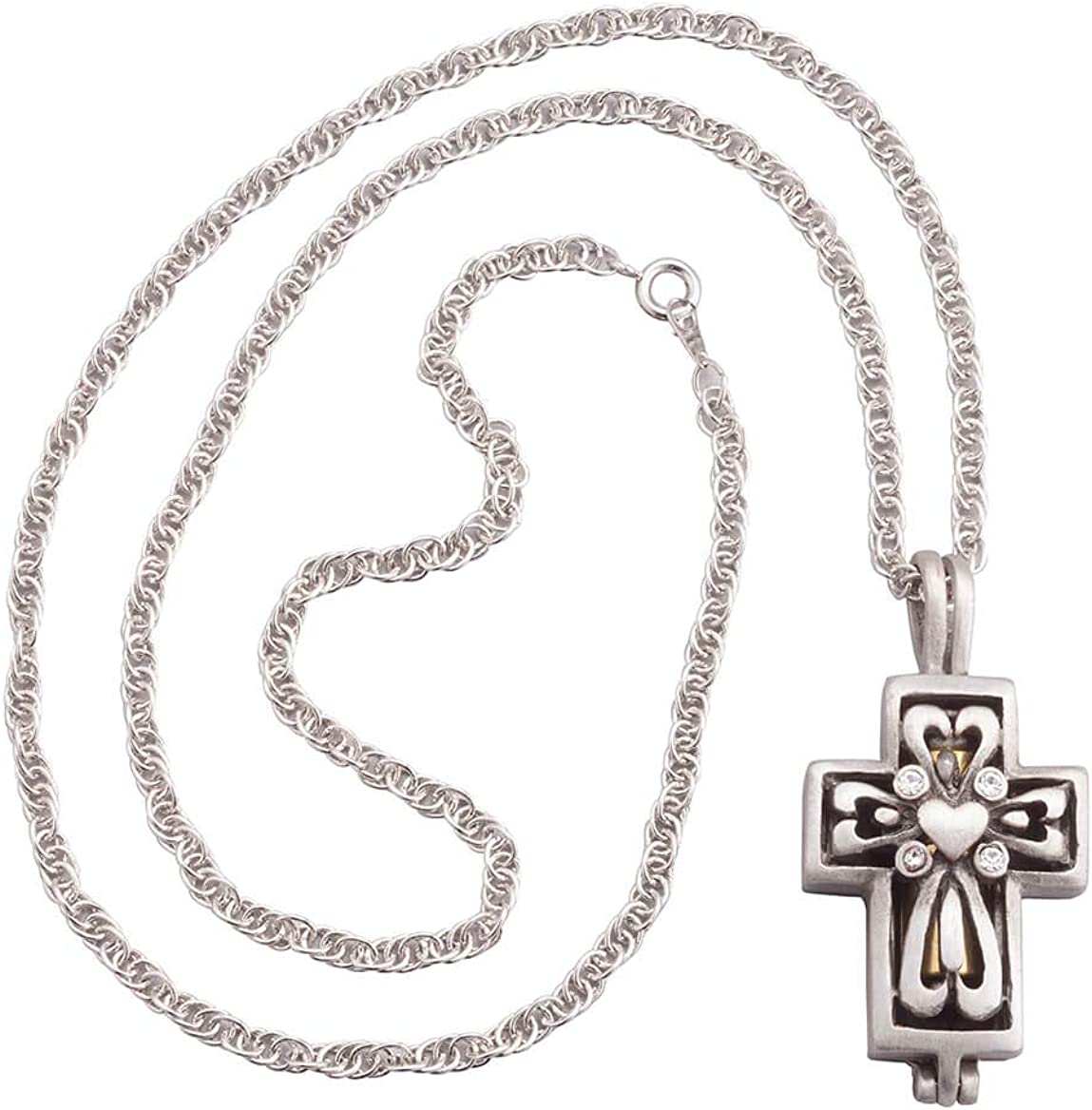 Silver Tone /& Black Cross Floating Charm For Our Glass Memory Locket Necklaces