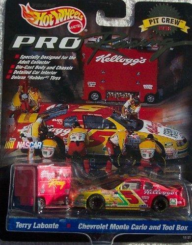 1998 Hot Wheels Pro Racing Pit Crew Terry Labonte #5 Kellogg's Die Cast Car w/Tool Box