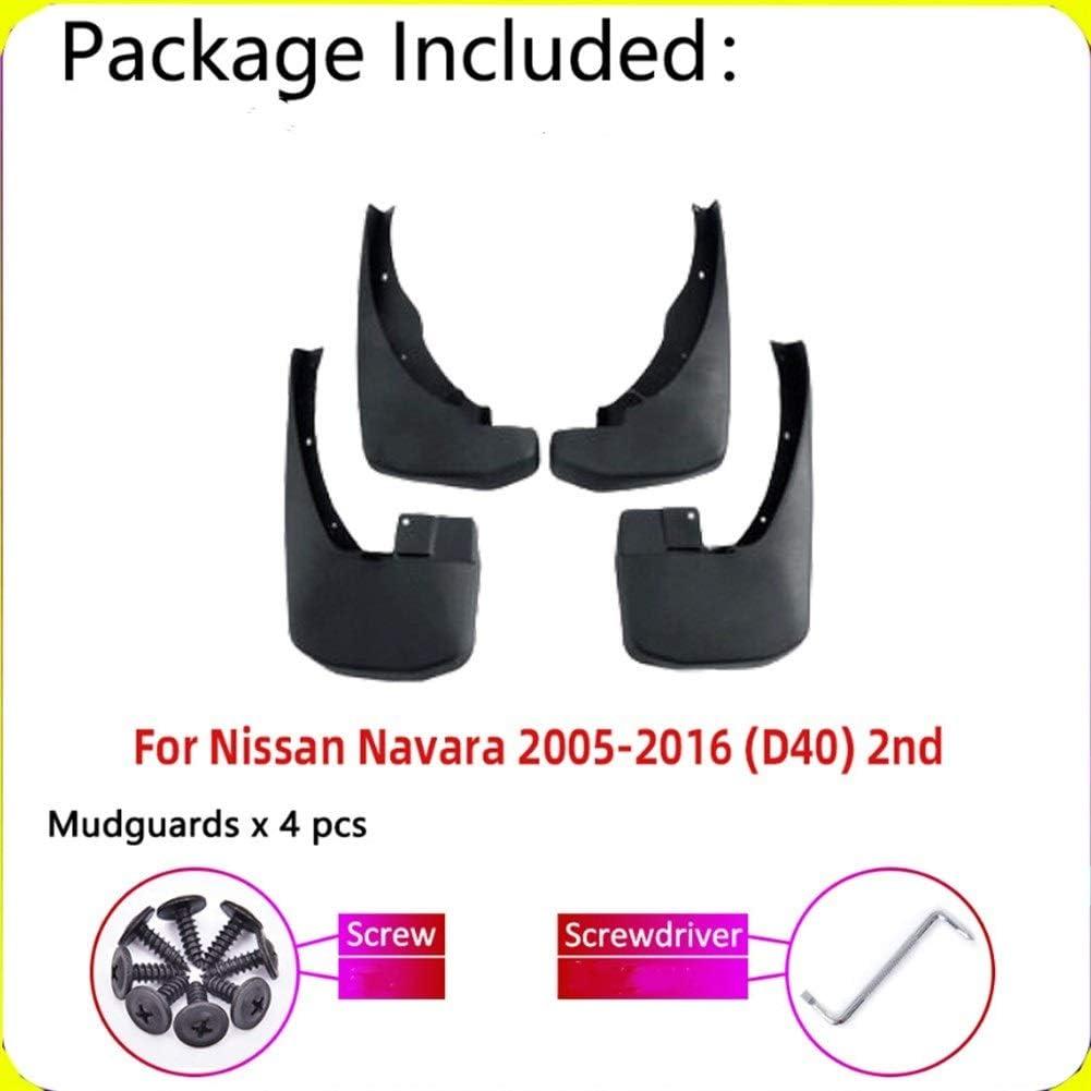 Keine Marke Garde-Boue de Voiture Bavette for Nissan Navara Frontier Brute D40 2016~2005 Fender Boue Garde Splash Accessoires Garde-Boue Rabats Color : Black