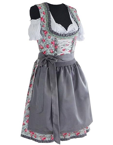 Alte Liebe Trachtenkleid 3tlg. Dirndl Kleid 32,34,36,38,40,42,44,46,48,50,52,54,56,58,60