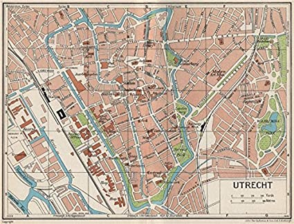 Amazon.com: UTRECHT. Vintage town city map plan. Netherlands - 1961 ...