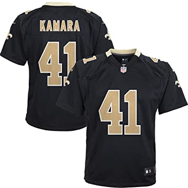 best sneakers 3a1d9 88804 Outerstuff Youth New Orleans Saints Alvin Kamara Kids Game Jersey - Black