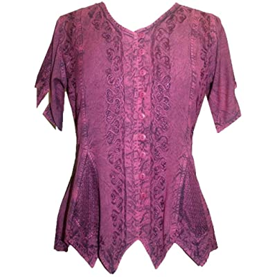 Agan Traders 136 B Gypsy Medieval Netted Assymetrical Vintage Top Blouse