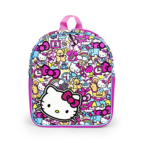 Hello Kitty All Over Print 12 inch Pink Bows Mini Backpack for Girls ()