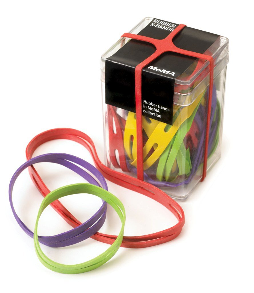 MoMA X Shaped Rubber Bands