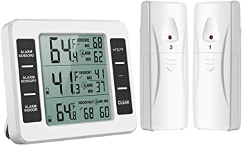 Oria Wireless Digital Refrigerator Thermometer