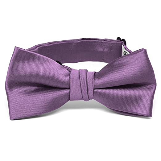 790adace6900 Image Unavailable. Image not available for. Color: TieMart Boys' Wisteria  Purple Premium Bow Tie