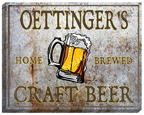 oettingers-craft-beer-stretched-canvas-sign