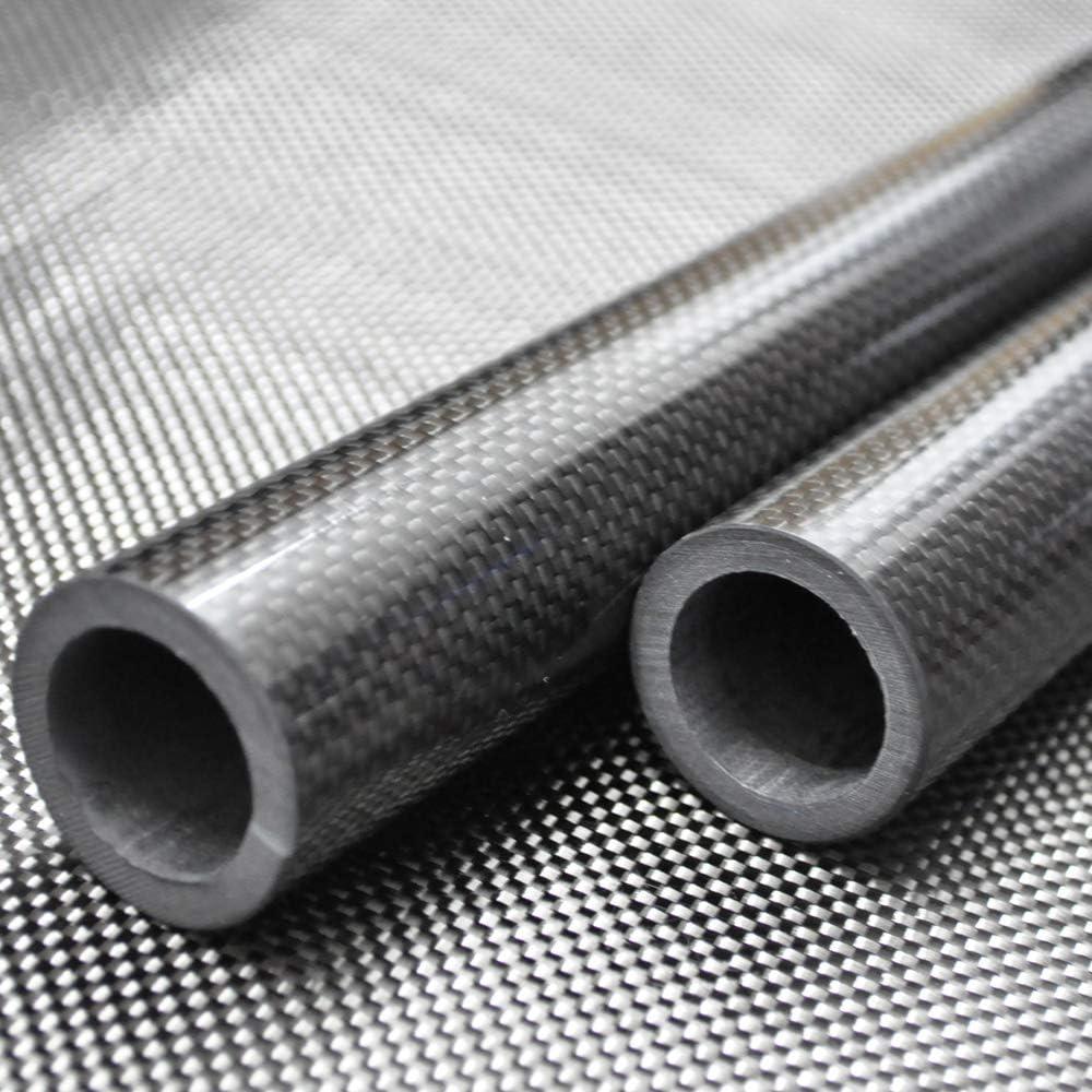 Abester Carbon Fiber Tube OD 24mm x ID 20mm ID x 1000mm 3K Glossy Twill Roll Wrapped Rod Bearing Pole H