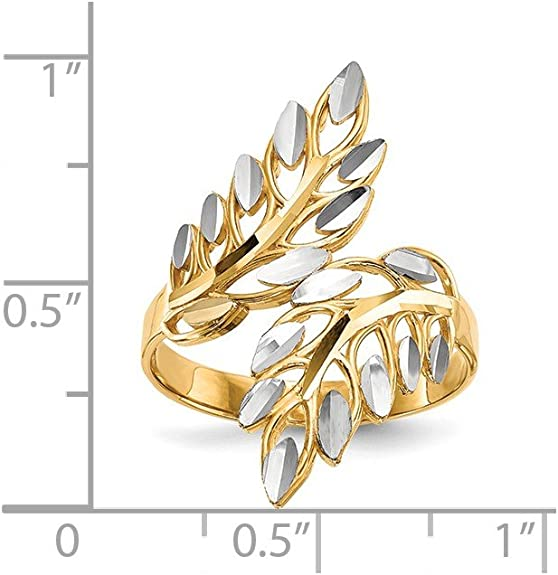 Mia Diamonds 14k Solid Yellow Gold and Rhodium-Plating Solid Satin Polished Heart Pin