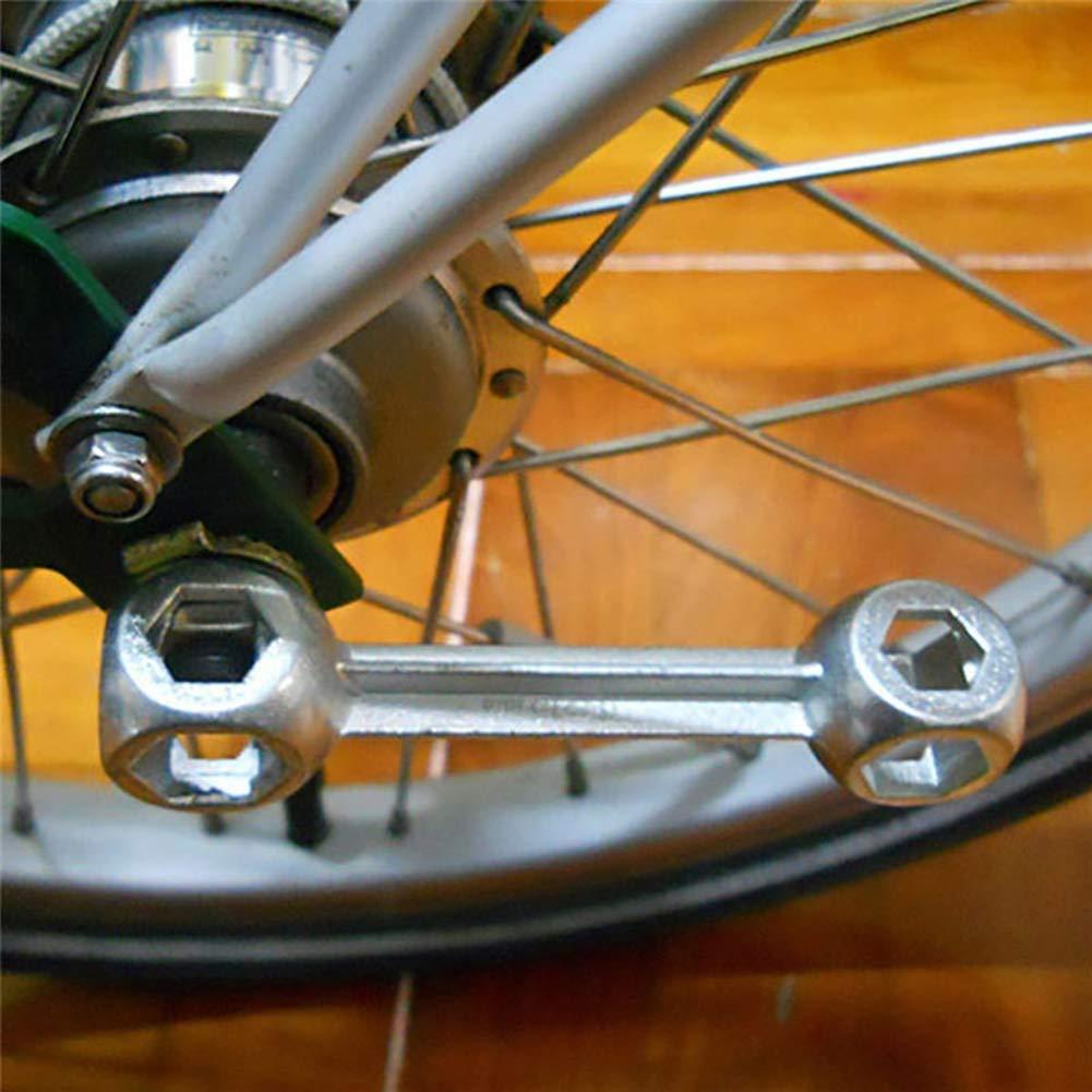 6-15mm 10 in 1 Durable Bicycle Bike Repair Tool Dog Bone Shape Hexagon Wrench