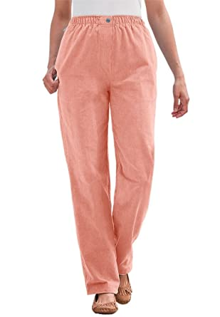 Women's Plus Size Pants In Corduroy With Comfortable Waist at ...