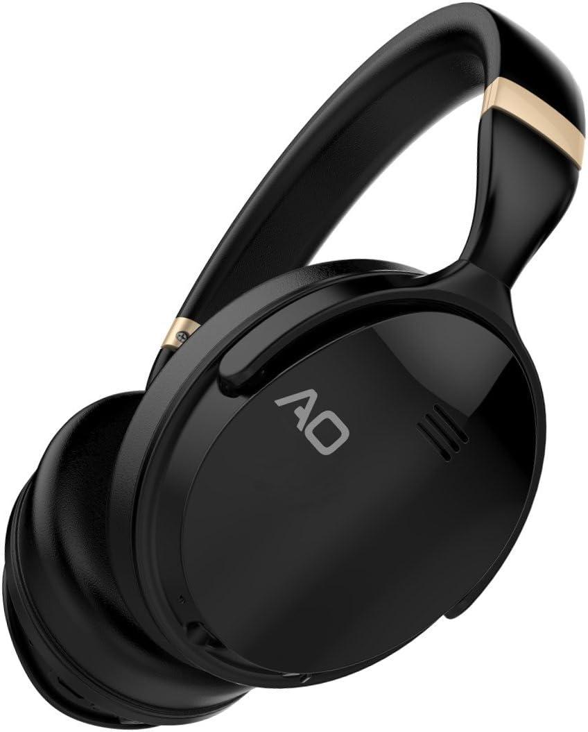 AO Active Noise Cancelling Headphones Wireless Bluetooth Headphones Over-Ear - M5 (Black)