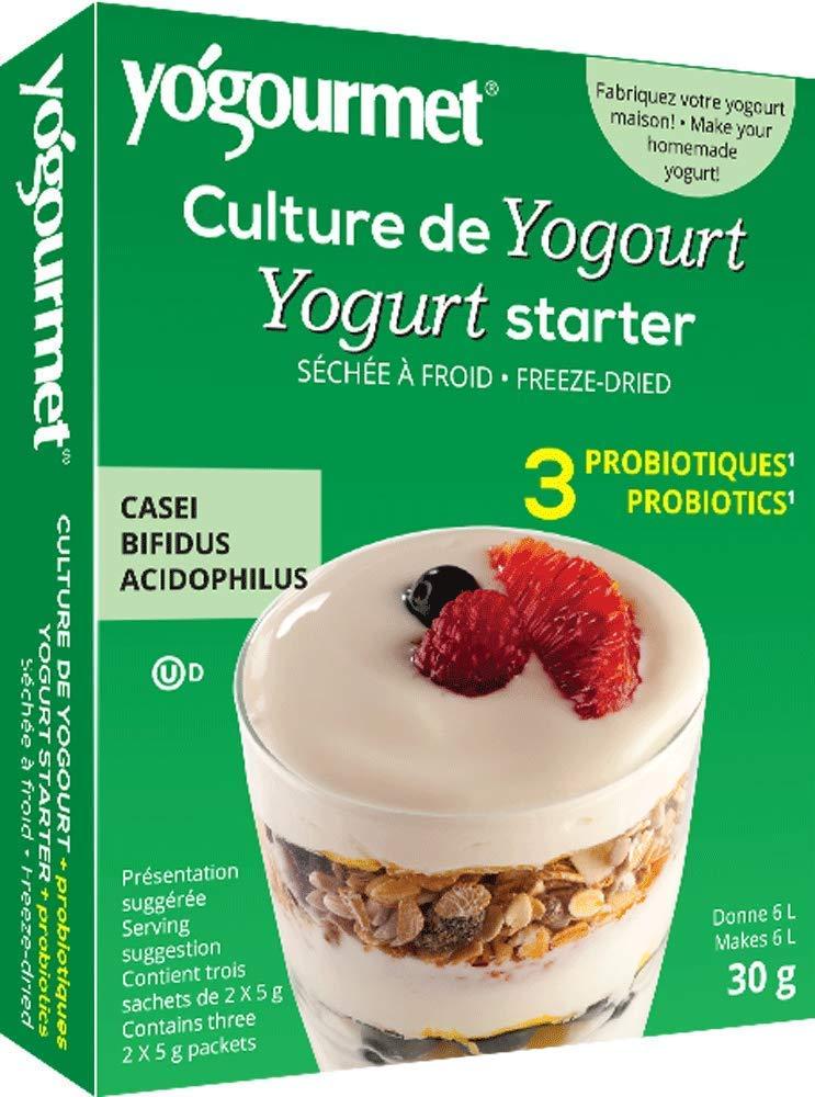 Yogourmet Casei Bifidus Acidophilus Probiotic Yogurt Starter, 0.17 Ounce, 6 Count box