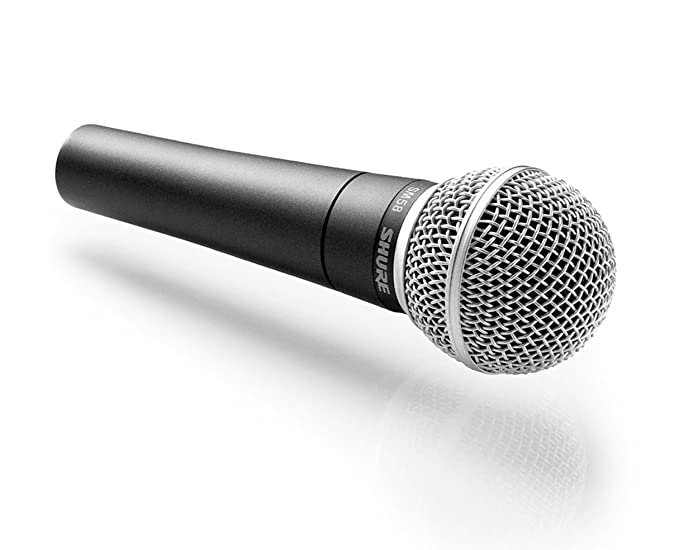 Shure SM58-X2U Cardioid Dynamic Vocal Microphone with X2U XLR-to-USB Signal  Adapter
