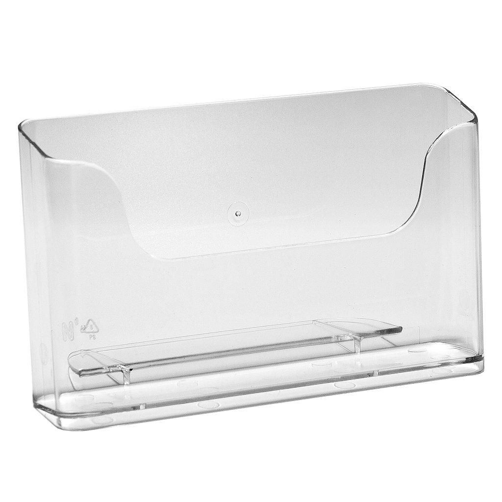 DIN Lang Tischaufsteller Prospekthalter Prospektst/änder Flyerst/änder glasklar im 10er Pack