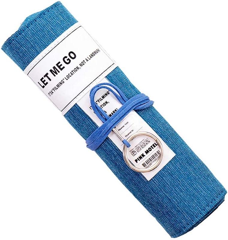 XT- Estuche de lápices Lona de Gran Capacidad Estuche de lápices Caja de papelería Bolsa de lápices Material de Seguridad portátil Bolsa de persiana Enrollable (Color : Blue): Amazon.es: Electrónica