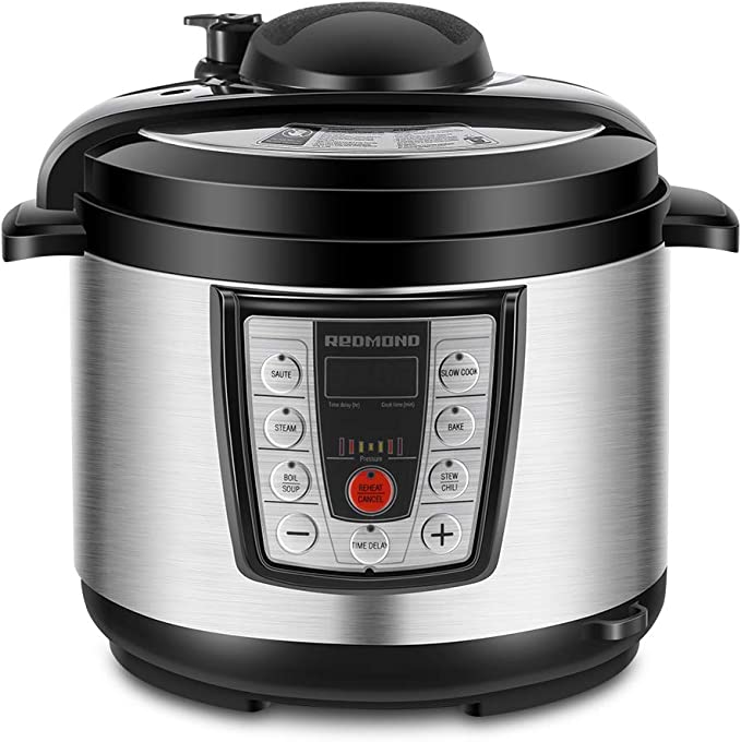 5 Quart Multicooker, 6-in-1 Multi-functional Programmable for Slow Electric Pressure Cooker