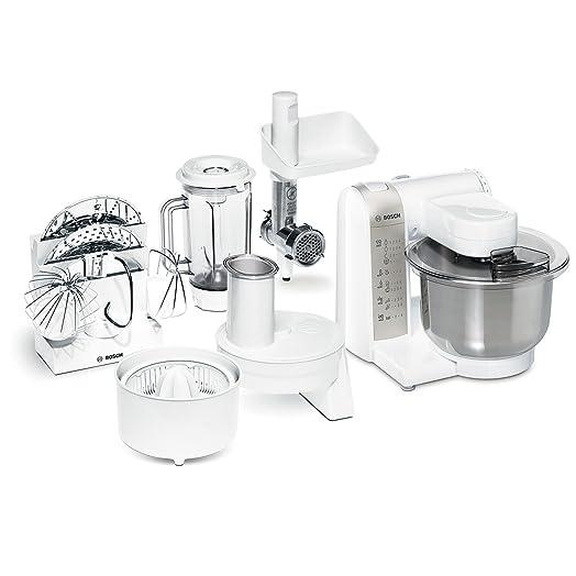 Bosch Küchenmaschine Mum 4880 Weiss/Si. 600 Watt, 4 Schaltstufen