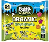 Black Forest Organic Sour Heads Little Monsters Gummy Candy Pack 14.4oz
