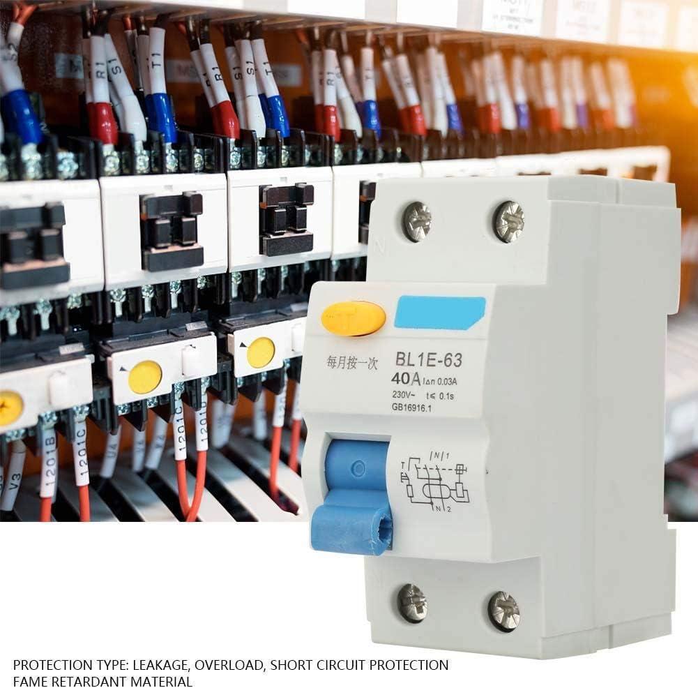 230V 25//40//63A Disjoncteur dair BL1E-63 2P courant 0.1S 63A disjoncteur miniature