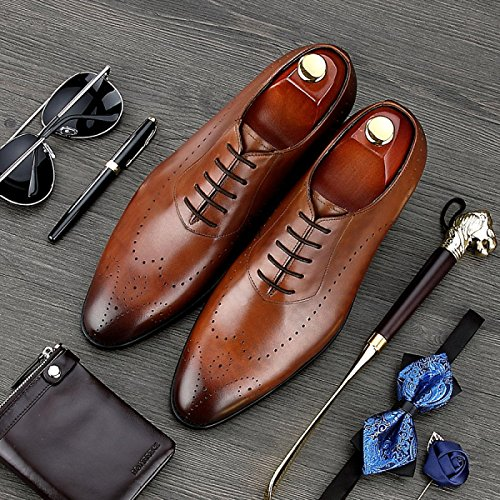Robe Gamme D'affaires Chaussures Les GRRONG Mode Hommes Brown Respirant De Mariage Est Haut Des De De nPPRzB1c