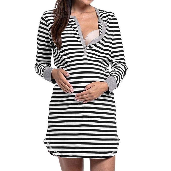 a235bc3bc STRIR Vestido Lactancia a Rayas Daily Mujer Embarazo