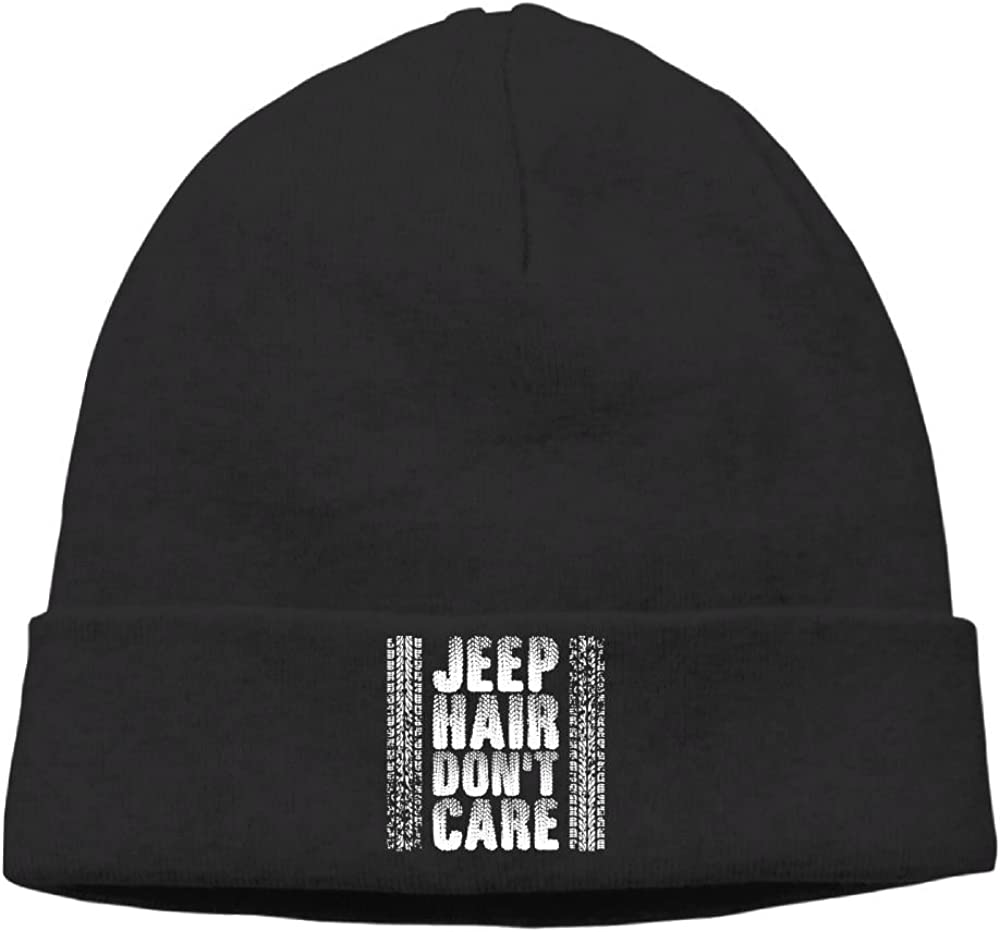 Jeep Hair Dont Care Beanies Hat Winter Skull Knit Caps Man' Slouchy Black