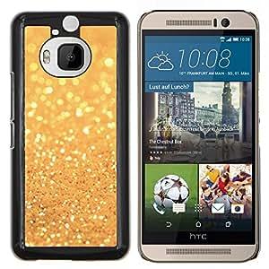 Caucho caso de Shell duro de la cubierta de accesorios de protección BY RAYDREAMMM - HTC One M9Plus M9+ M9 Plus - polvo de oro brillante sol amarillo