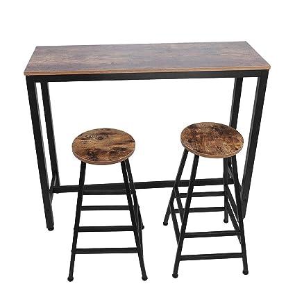 Remarkable Ebtools Bar Table And 2 Stools Set Wooden Garden Bar Set Theyellowbook Wood Chair Design Ideas Theyellowbookinfo