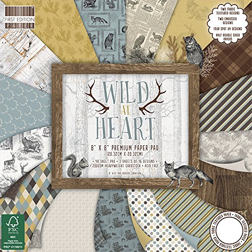 First Edition Wild at Heart Premium Paper Pad 8