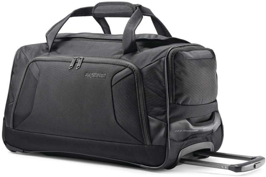 American Tourister Zoom Rolling Duffel Bag, Black