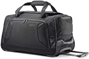 American Tourister Zoom Rolling Duffel Bag, Black
