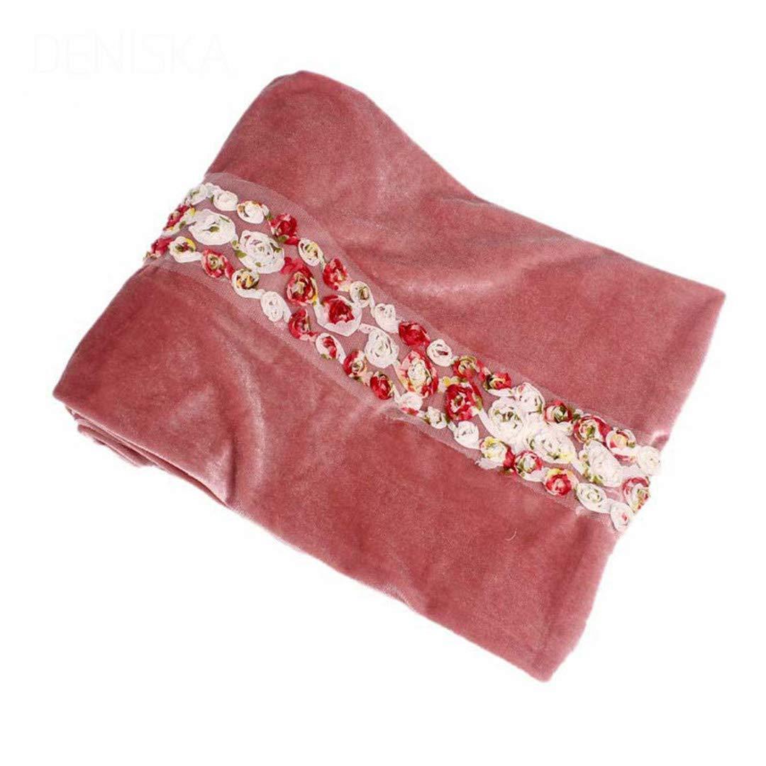Women 3D Rose Flower Velvet Turban Extra Long Headwrap Lady Headscarf Hijab Cap