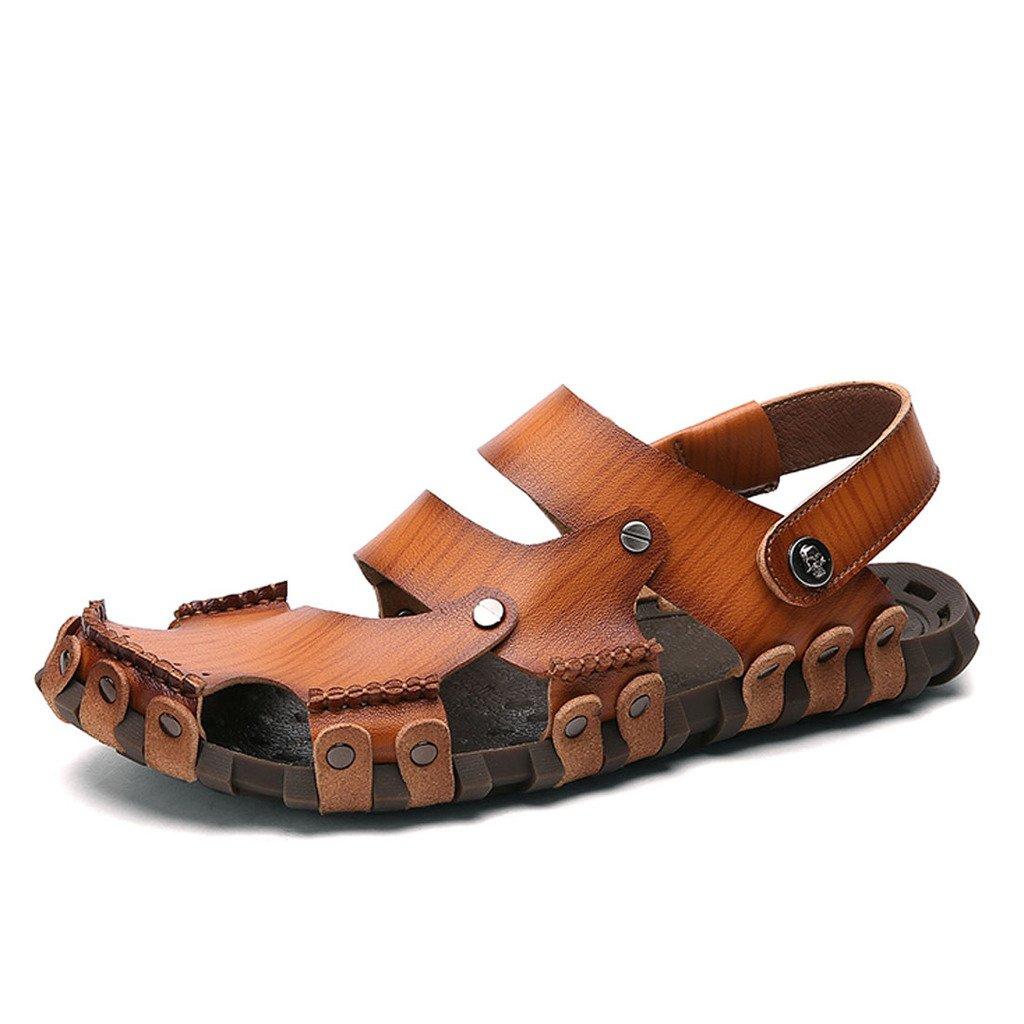 DEKESEN Mens Casual Genuine Leather Sandal