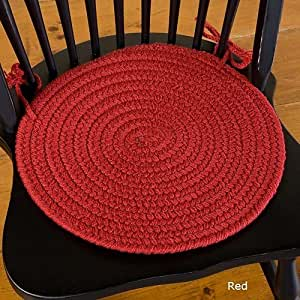 Bold Braided Chair Pad Red Red Chair Pad Home Kitchen
