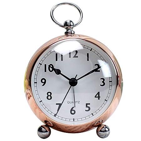 Lisansang Despertador Ronda de Alarma Relojes de Mesa de Metal ...