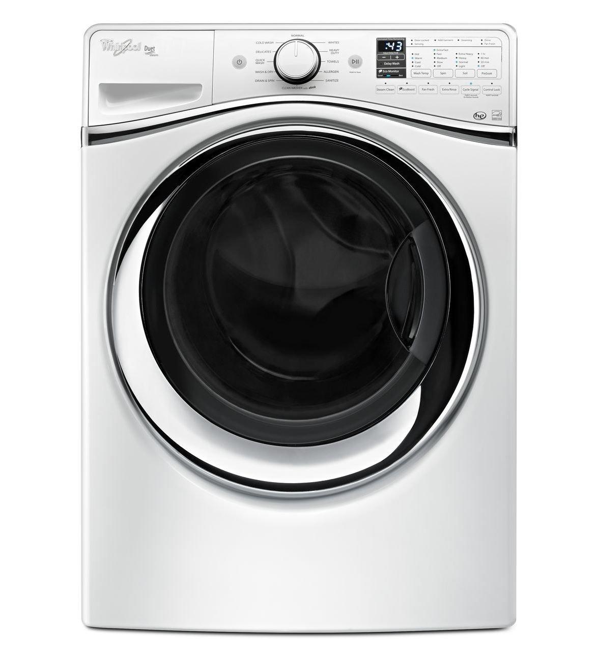 Whirlpool WFW95HEDW Independiente Carga frontal Blanco lavadora ...