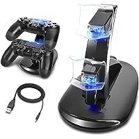 MINLUK Cargador Mando PS4 Soporte PS4 Doble USB de Carga con el Indicador del LED para Sony Playstation 4 / PS4 Pro / PS4 Slim