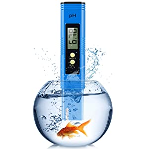 PH Meter, Digital Ph Meter for Hydroponics with 0-14 PH Measurement Range, 0.01 PH High Accuracy PH Reader for Water/Brewing/Food/Soil/Sauce/Laboratory, Water PH Tester Digital