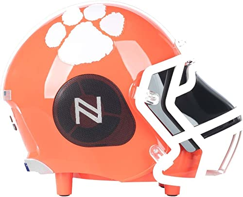 Nima Athletics NCAA College Football Clemson Tigers Helmet, Wireless Bluetooth Speakers and Portable Surround Sound, Small Size Officially Licensed NCAA Football Helmets