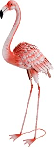 Chisheen Yard Art Metal Flamingo Garden Statues Outdoor Yard Statues and Sculptures Large