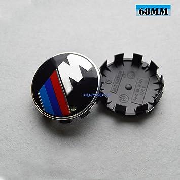 Hanway negro base 10Pin BMW M de alimentación rueda tapacubos emblema adhesivo BMW M3 M5 M6 1 2 3 4 5 6 Series: Amazon.es: Coche y moto