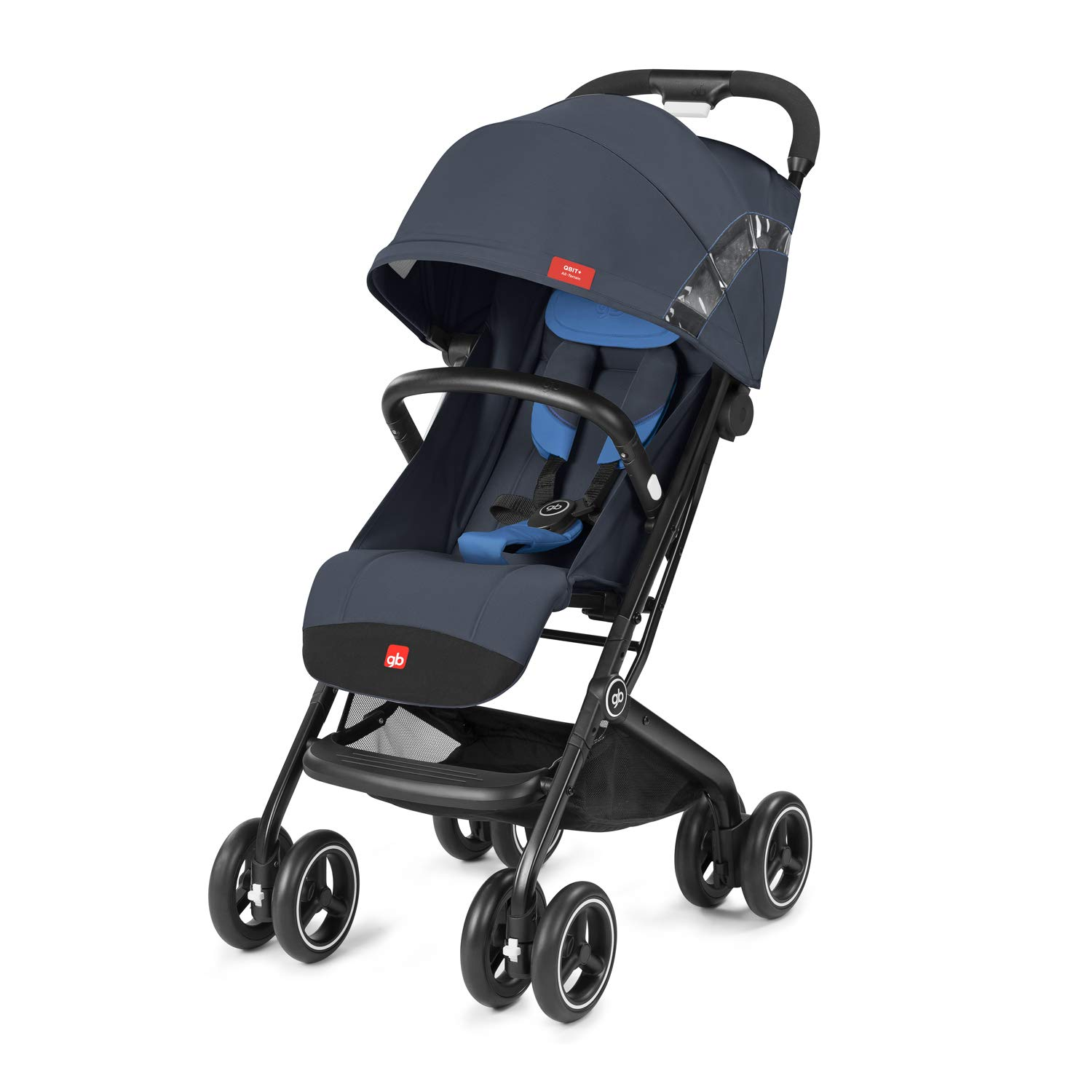 gb 2019 Buggy QBIT+ All-Terrain with Bumper Bar''Night Blue''- from Birth up to 17 kg (Approx. 4 Years) - GoodBaby QBIT Plus