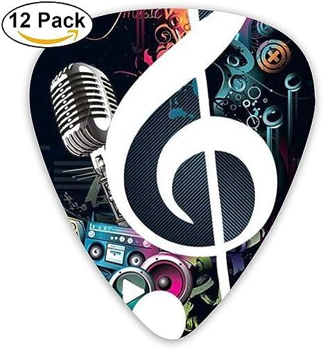 Parts Large Musical Note Music Jazz Light Guitar Picks 12 Packs: Amazon.es: Instrumentos musicales